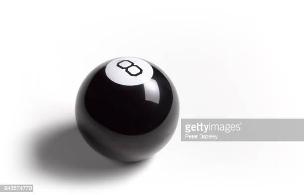 Pool eight ball with copy space