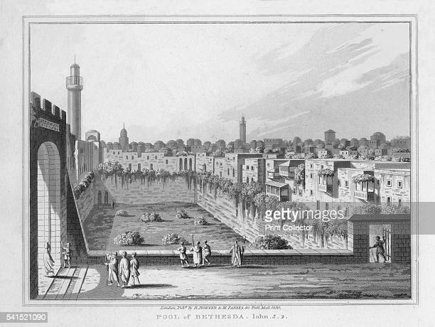 Pool of Bethesda John 52' 1830 From A Series of twentyfour Views illustrative of the Holy Scriptures Views from Sir Robert Ainslie's celebrated...