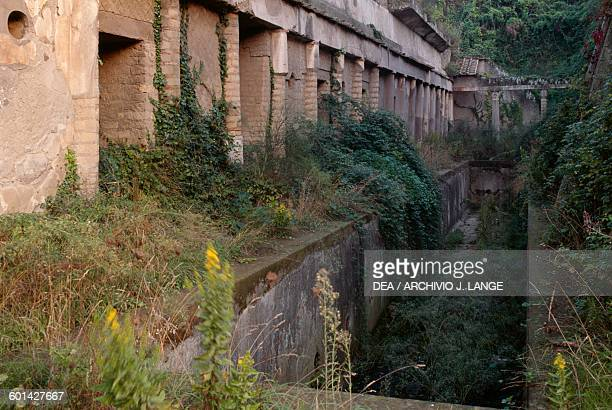 Pool of the Palaestra 30 m long Herculaneum Campania Italy Roman civilisation 1st century BC