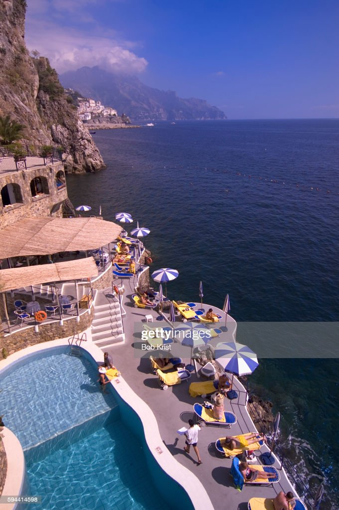 Pool of the Santa Caterina Hotel