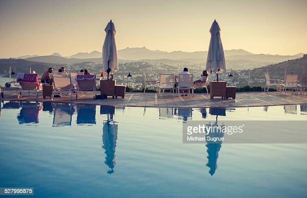 Pool overlooking Bodrum, Turkey.