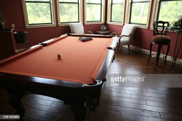 Pool Table in Home Game Room