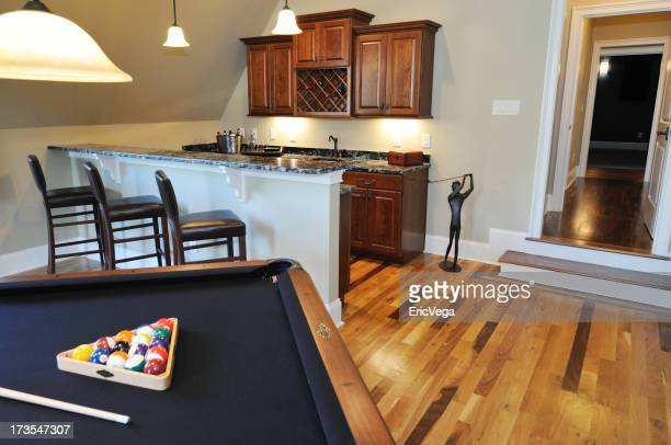 Pool Table In Home Interior