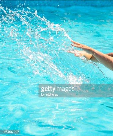 Pool Water Splash pool water splash stock photo   getty images