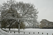 poole park in the snow