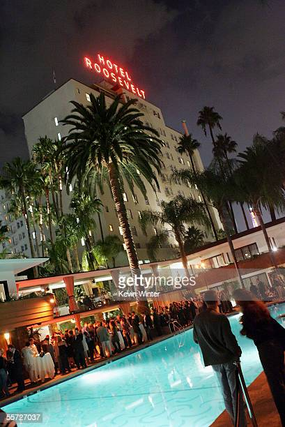 Poolside at the afterparty for the premiere of Touchstone Pictures' 'Flightplan' at the Hollywood Roosevelt Hotel on September 19 2005 in Los Angeles...