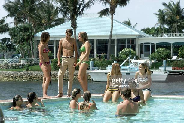 A poolside party at Phil Richards' home in Fort Lauderdale Florida May 1970