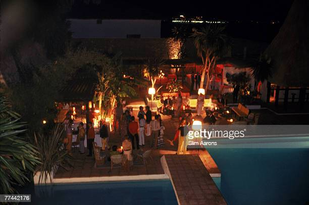 A poolside party at the Marbella Club Marbella Spain 1970