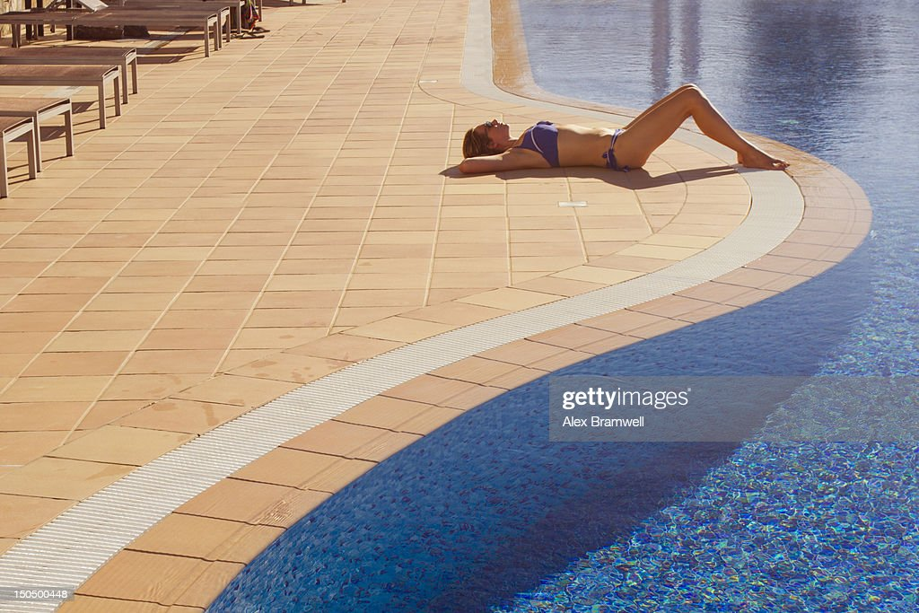 Poolside : Stock Photo