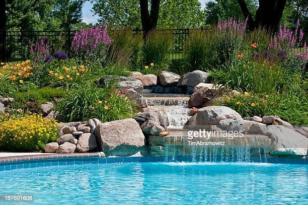 Poolside Waterfall