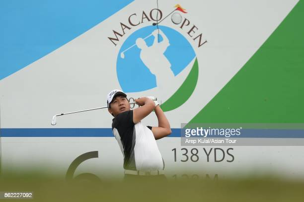 Poom Saksansin of Thailand pictured during practice ahead of the Macao Open at Macau Golf and Country Club on October 17 2017 in Macau Macau