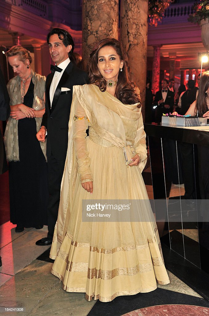 Poonam Bhadap Shroff attends the Hollywood Costume gala dinner at the Victoria & Albert Museum on October 16, 2012 in London, England.