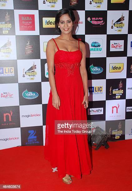 Poonam Pandey at Mirchi music awards in Mumbai