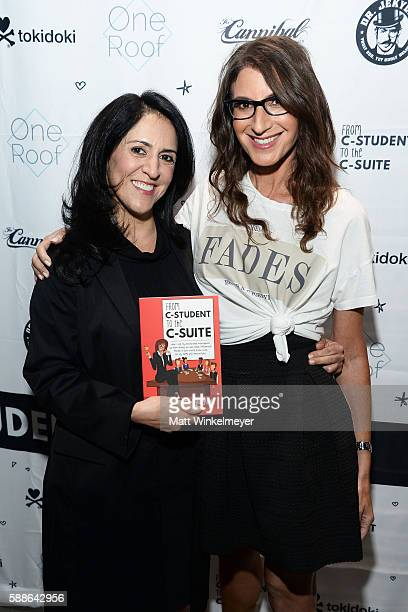 Pooneh Mohajer and author Tami Holzman attend the book launch for 'From CStudent to the CSuite Leveraging Emotional Intelligence' at PLATFORM in...