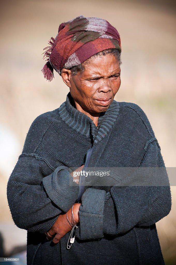 Poor African grandmother