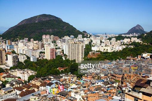 Pobres y ricos áreas de río de Janeiro
