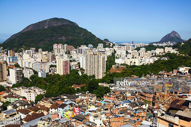 Pobres e ricos áreas do Rio de Janeiro
