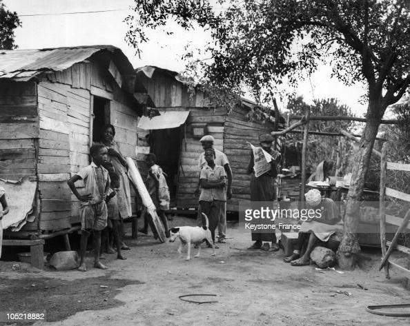 Poor District In Kingston In Jamaica In 1962