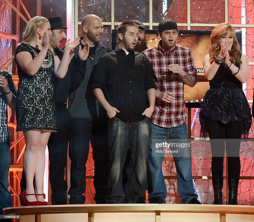Poor Man's Poison wins the 31st annual Texaco Country Showdown National final at the Ryman Auditorium on January 17, 2013 in Nashville, Tennessee.