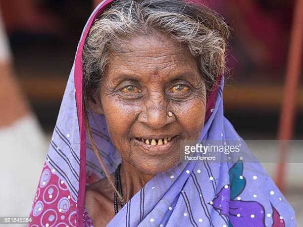 Poor woman in Hampi, India