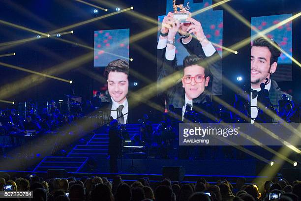 Pop and classical crossover italian group Il Volo perform at Pala Alpitour on January 27 2016 in Turin Italy