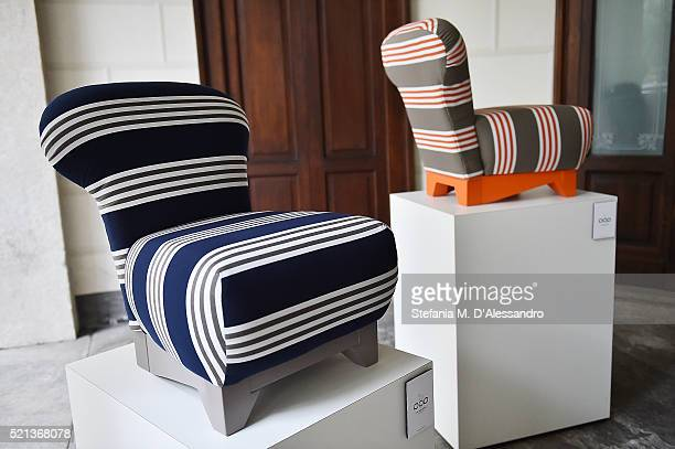 Pop armchairs by Sirotti Design are displayed during Milan Design Week 2016 Fuorisalone on April 15 2016 in Milan Italy