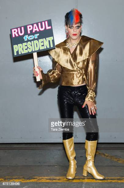 Pop artist and tv personality Sham Ibrahim attends the 3rd Annual RuPaul's DragCon at Los Angeles Convention Center on April 29 2017 in Los Angeles...