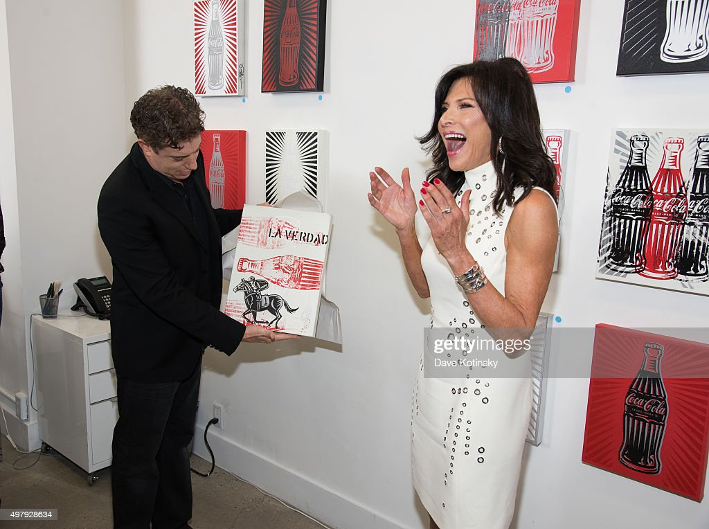 Pop Artist Burton Morris and Sheila Rosenblum attend the Sheila Rosenblum Resident Magazine Cover Party at Soho Contemporary Art Gallery on November 19, 2015 in New York City.