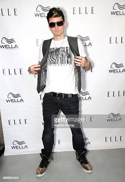 Pop artist Jaysin Voxx attends the ELLE Wella Professionals Salon Soiree at Butterfly Loft at on May 8 2014 in Encino California