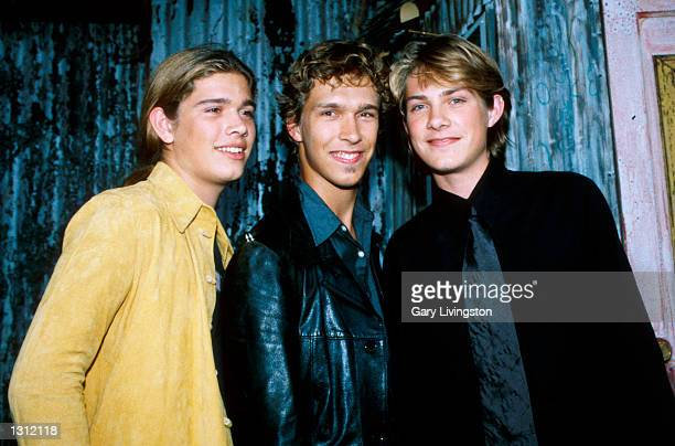 Pop band Hanson attends the 9th Annual American Society of Young Musician''s Spring Benefit concert May 31 2001 at The House Of Blues in Los Angeles...