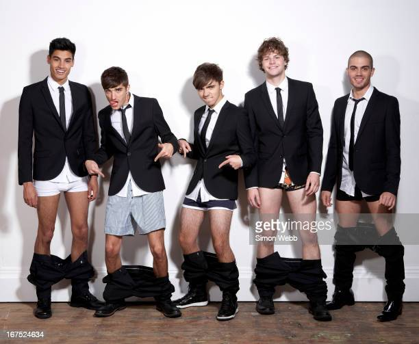 Pop band The Wanted are photographed for We Love Pop magazine on November 4 2011 in London England