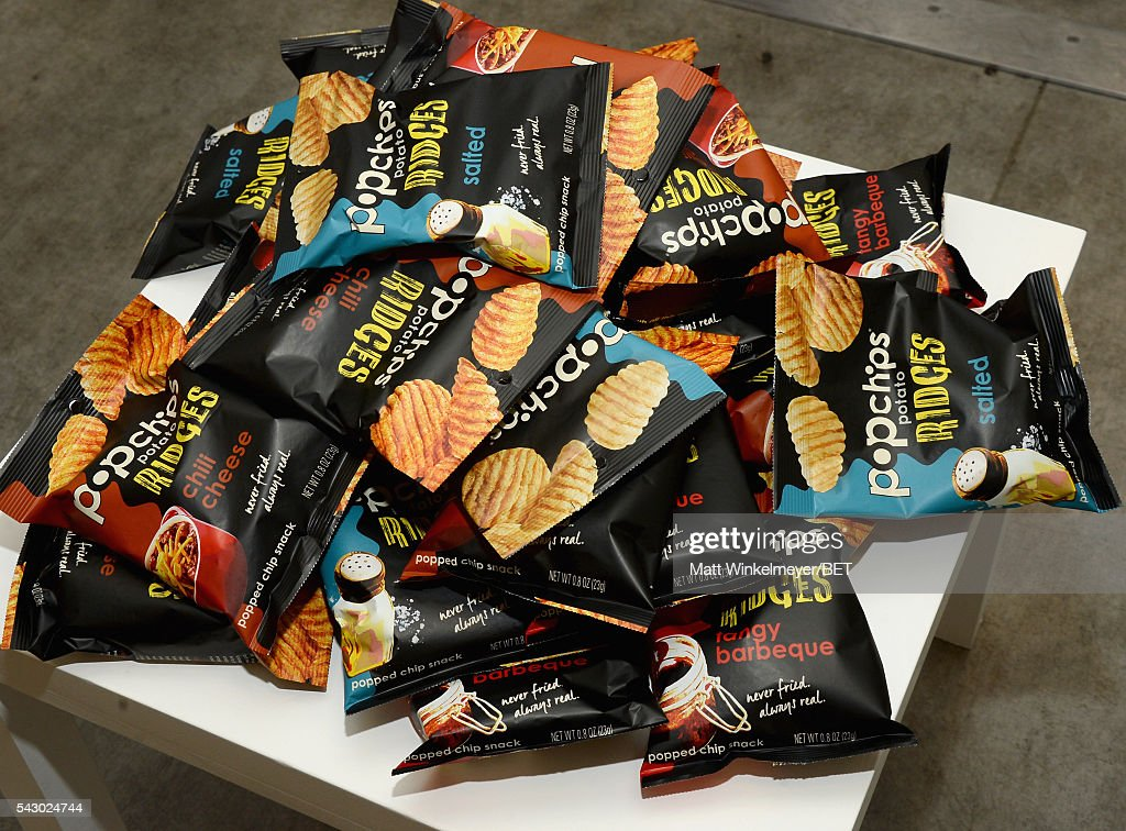 Pop Chips are displayed in the BETX gifting suite during the 2016 BET Experience on June 25, 2016 in Los Angeles, California.