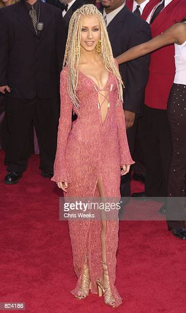 Pop diva Christina Aguilera arrives at the 43rd Annual Grammy Awards February 21 2001 at the Staples Center in Los Angeles CA