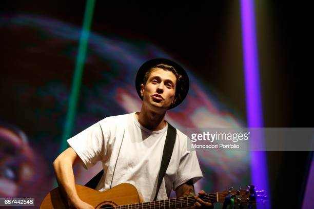 Pop duo Benji Fede during the charity concert 'Uomini InCanto' to support the ANT association dedicated to the assistance of cancer patients at home...