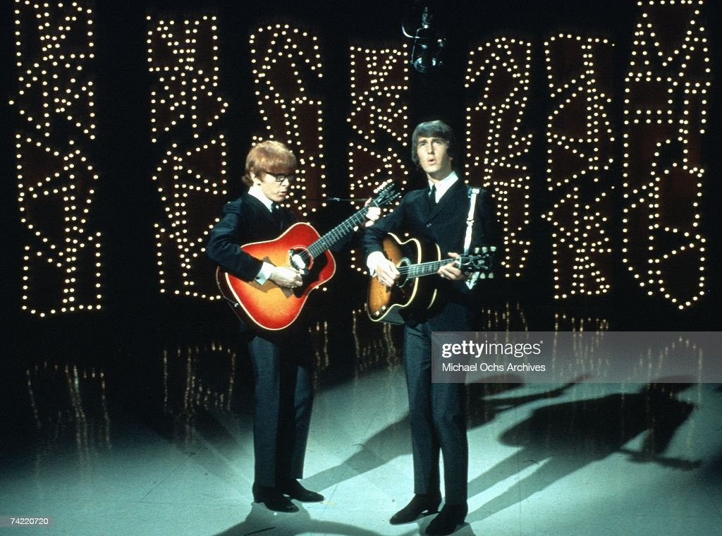Pop Duo Peter And Gordon perfom on NBC's TV Show 'Hullabaloo' in New York, New York, March 30, 1966. Left to right: Peter Asher, Gordon Waller.) Photo by Michael Ochs Archives/Getty Images)