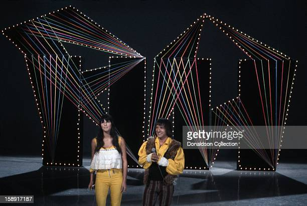 Pop duo Sonny and Cher perform on the NBC TV music show 'Hullabaloo' in September 1965 in New York City New York
