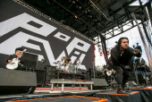 Pop Evil performs during 2014 Rock On The Range at Columbus Crew Stadium on May 17 2014 in Columbus Ohio