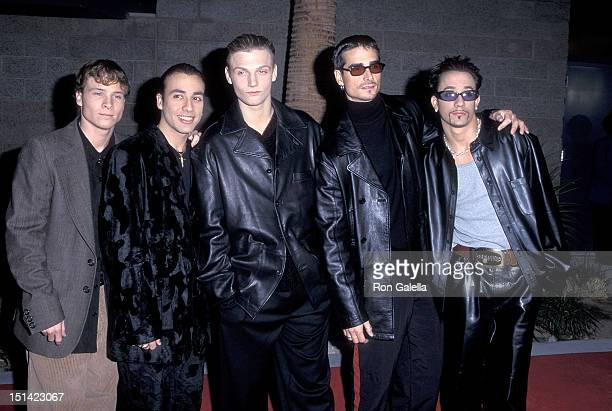 Pop group Backstreet Boys Brian Littrell Howie Dorough Nick Carter Kevin Richardson and AJ McLean attend the Eighth Annual Billboard Music Awards on...