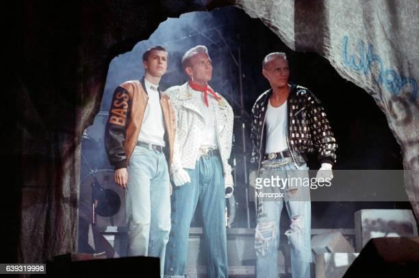 Pop group Bros from left to right Craig Logan Matt Goss and Luke Goss 10th July 1988