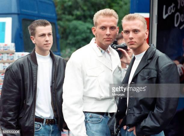 Pop group Bros from left to right Craig Logan Matt Goss and Luke Goss 3rd July 1988