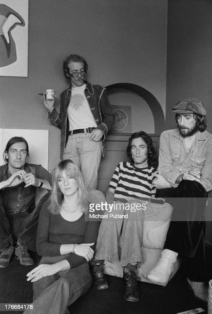 Pop group Fleetwood Mac September 1973 Left to right drummer Mick Fleetwood singer and keyboard player Christine McVie guitarist Bob Welch guitarist...