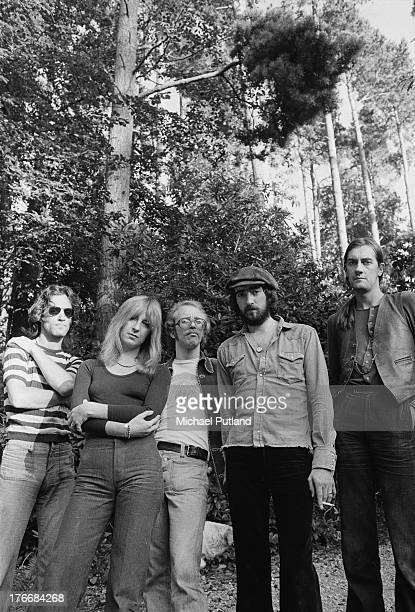 Pop group Fleetwood Mac September 1973 Left to right guitarist Bob Weston singer and keyboard player Christine McVie guitarist Bob Welch bassist John...