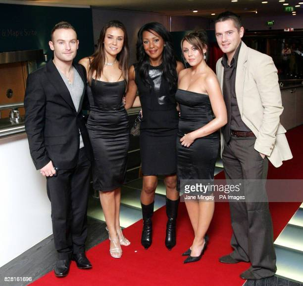 Pop group Liberty X arrive at the 40th birthday of one of London's most iconic buildings the BT Tower which hosted an exclusive party in aid of BBC...