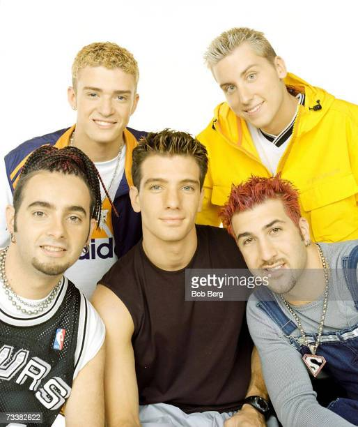Pop group *NSYNC Chris Kirkpatrick JustinTimberlake JC Chasez Lance Bass and Joey Fatone pose for an August 1999 portrait in Los Angeles California