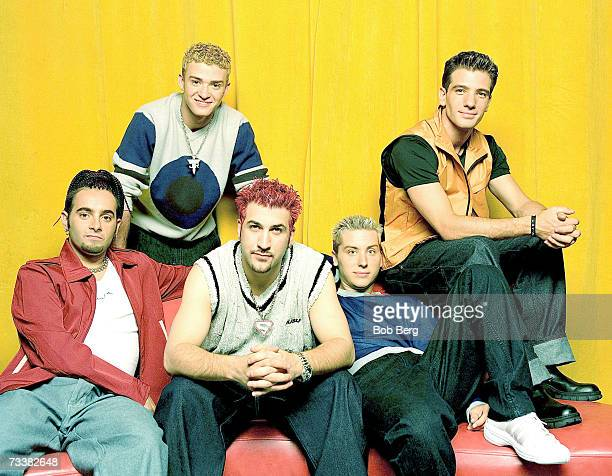 Pop group *NSYNC JC Chasez Chris KirkpatrickLance Bass JustinTimberlake and Joey Fatone pose for an August 1999 portrait in Los Angeles California