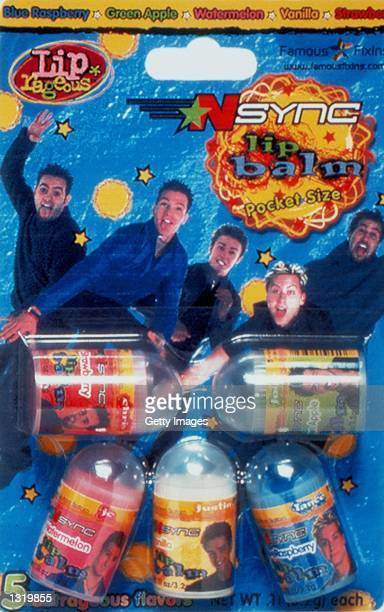 Pop group *NSYNC join with Famous Fixins Inc December 18 2000 to launch a new product line of five different Lip Balms sporting the band''s name and...