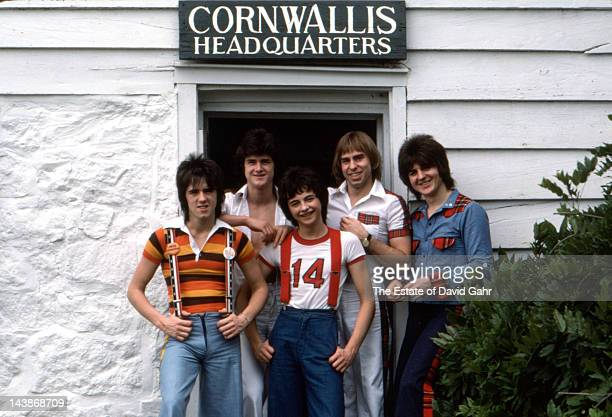 Pop group The Bay City Rollers pose for a portrait in June 1976 in Connecticut