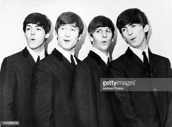 Pop group The Beatles from left to right Paul McCartney John Lennon Ringo Starr and George Harrison circa 1964