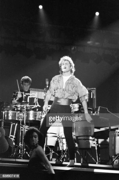 Pop group Wham in concert at Whitley Bay December 1984 Pop group Wham in concert at Whitley Bay Ice Rink The opening of The Big Tour 4th December 1984