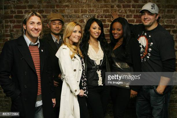 Pop groups The Sugababes and Feeder backstage at the Camden Roundhouse in North London